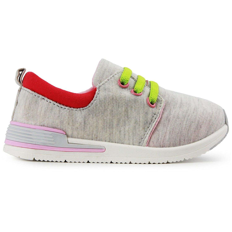 97cb81bf683ea Oomphies Sunny Girls Light Grey Athletic Shoe
