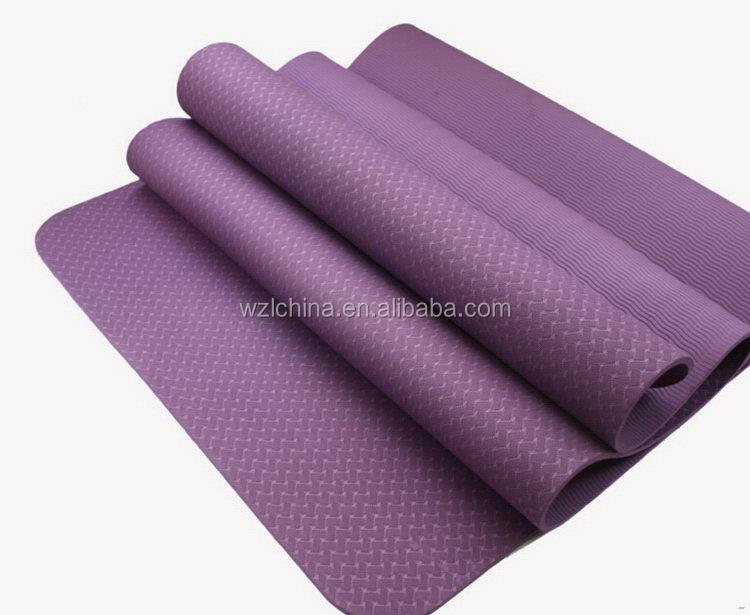 Wholesale high density gym tpe yoga mat 6mm