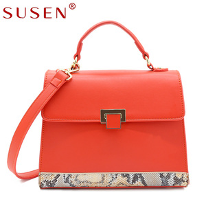 SUSEN Ladies Snake pattern handbags wholesale designer bulk buy handbags