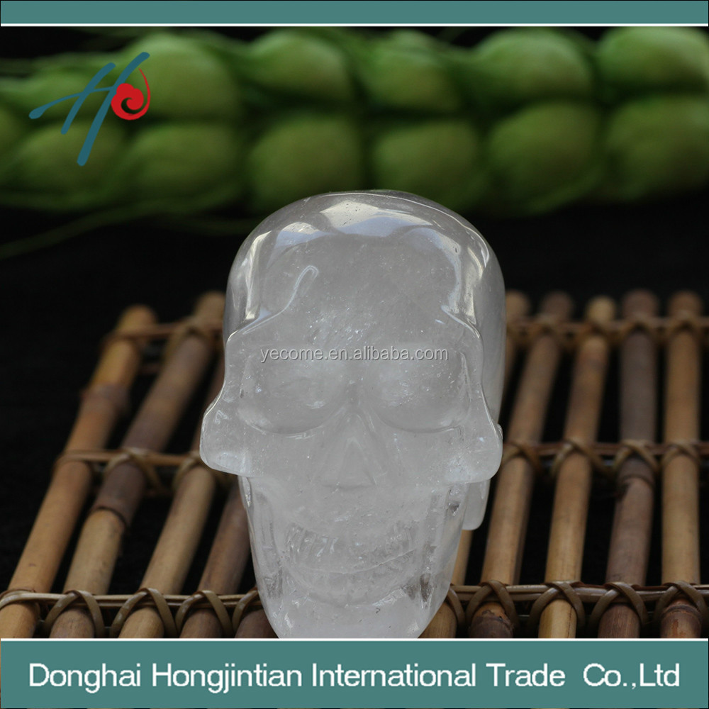clear QUARTZ ROCK CRYSTAL skull for friend gift