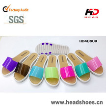 Alibaba china venta caliente woman soplando zapatilla de pvc brasil favorito slipper zapatos hechos en china