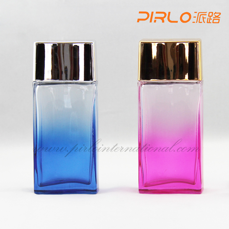 100ml traditional cheap glass perfume bottles square men`s perfume spray bottles quality cosmetic glass bottles pink