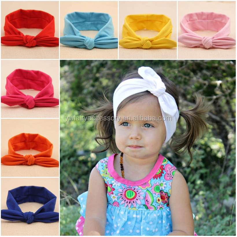 Latest Hot Selling Baby Bow Cotton Headband Jersey Knit Headbands Baby  Knitted Turban Headbands bcb5b8d2013