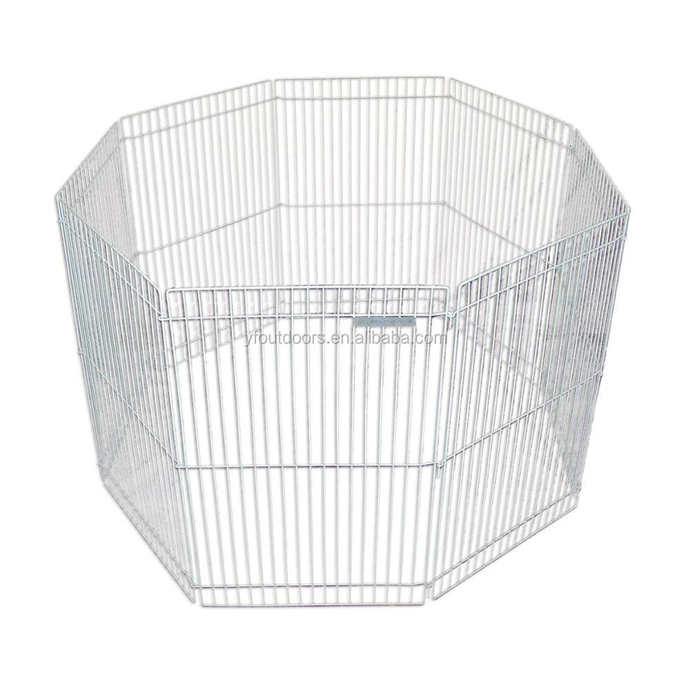 Metal Wire Folding Pet Fence Rabbit Hutch