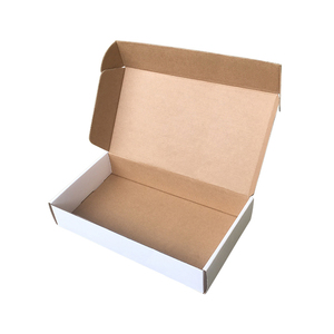 Professional factory supply ecolomic corrugated board plain white or brown tuck top small flat bulk mailing boxes