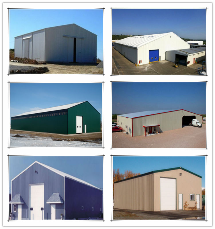 Low cost steel structure prefabricated barn for farm