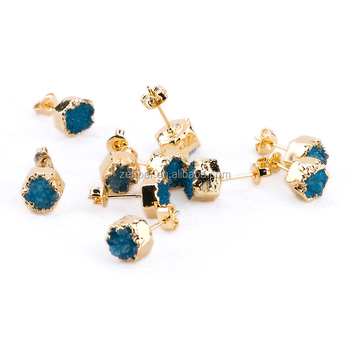 products druzy frills stud earrings essential studs