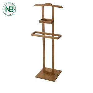 Hot sale Dry laundry wooden towel holder stand bamboo standing towel rack
