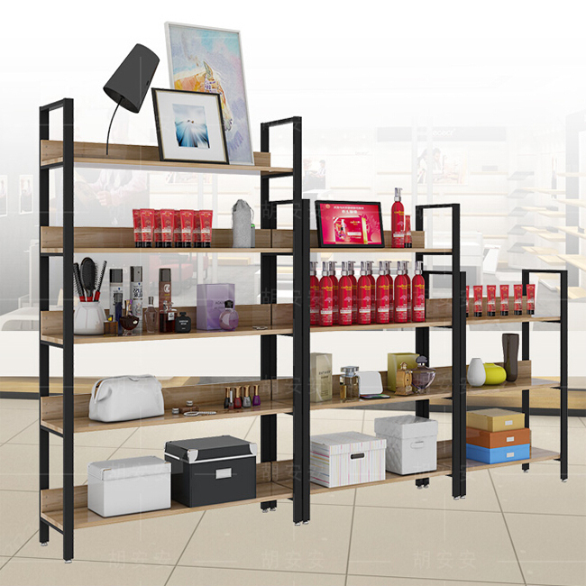 Makeup Stand Designs : Shopping mall cosmetic display cabinet floor stand designs black