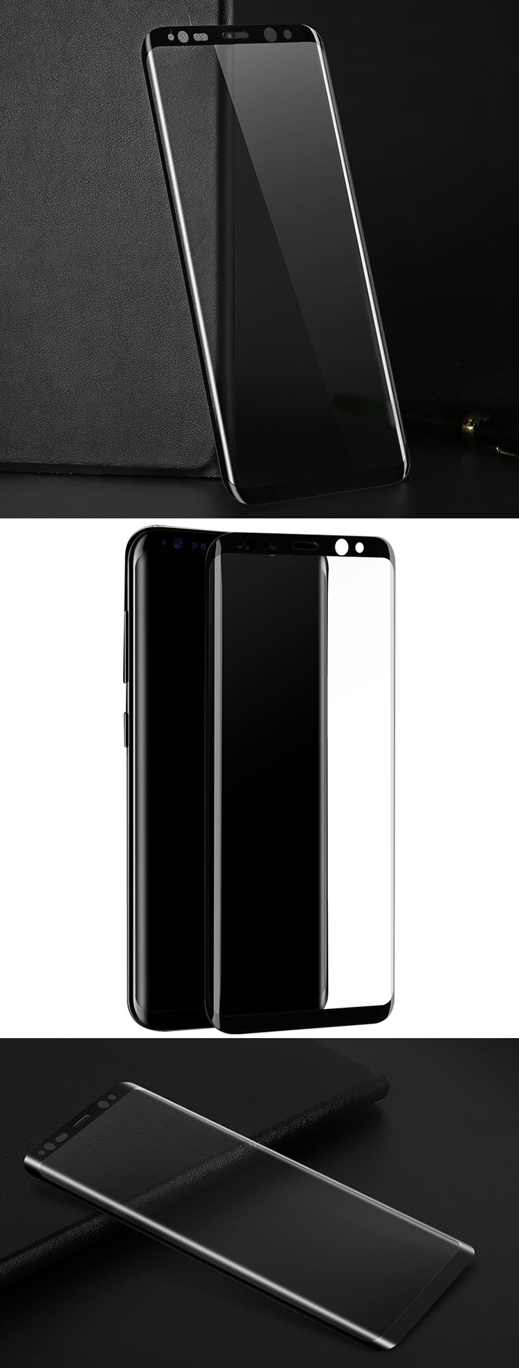 9H hardness screen protector for samsung s8 high transparent mobile glass for samsung galaxy s8 screen protector