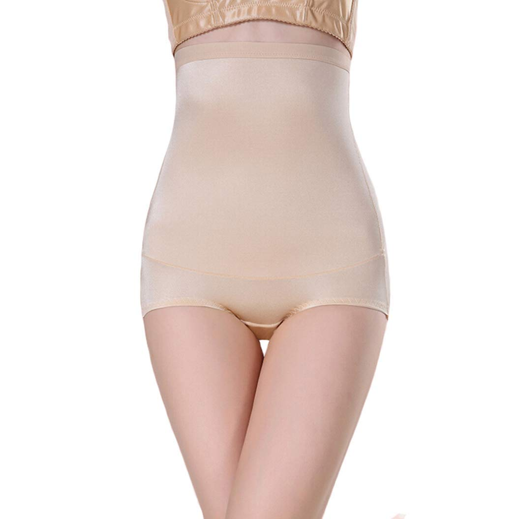 ASO-SLING High Waist Control Panties Women Brief Breathable Smooth Bodysuit