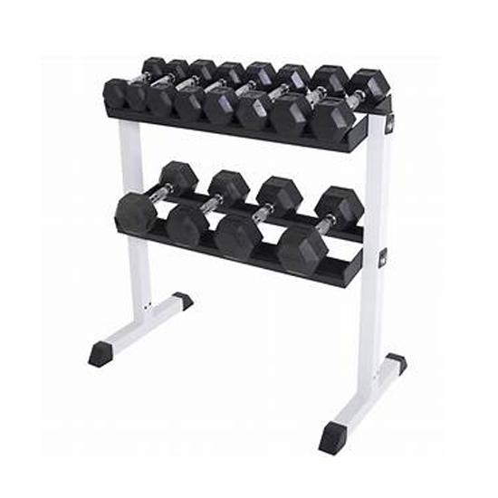 Palestra attrezzature per il fitness dell'unità di elaborazione rivestito dumbell set con cremagliera