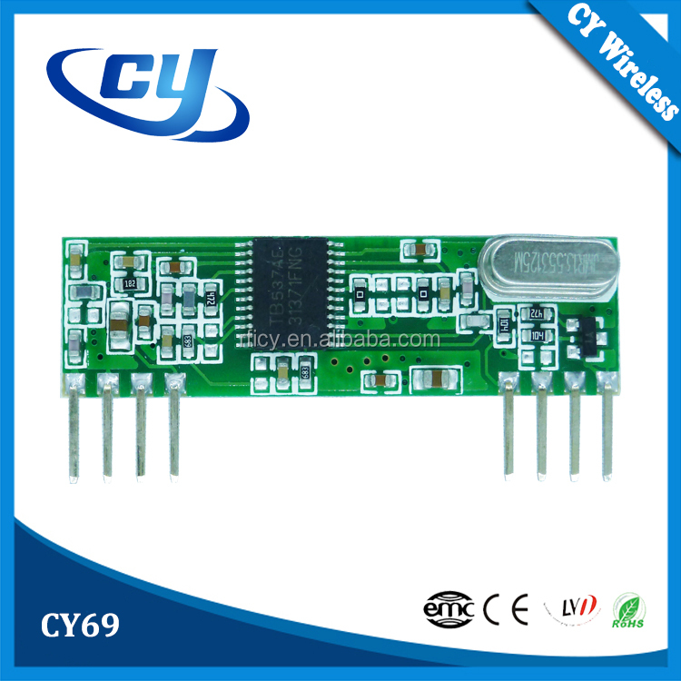 CY69 Low Power Consumption 433mHz RF Receiver Module