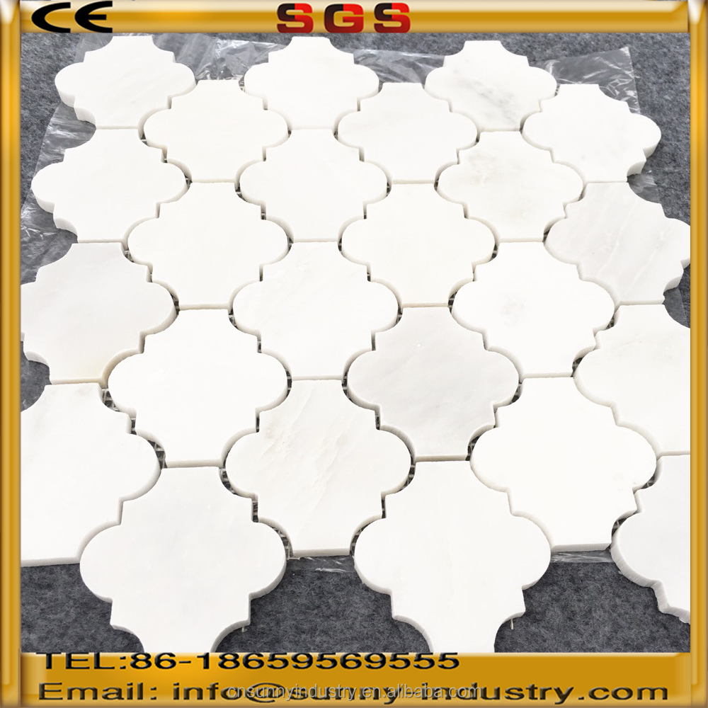 chinese pure white onyx mosaic tile price mosaic product