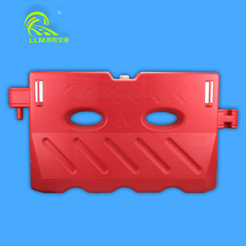 White rotational mold plastic traffic barrier for sale