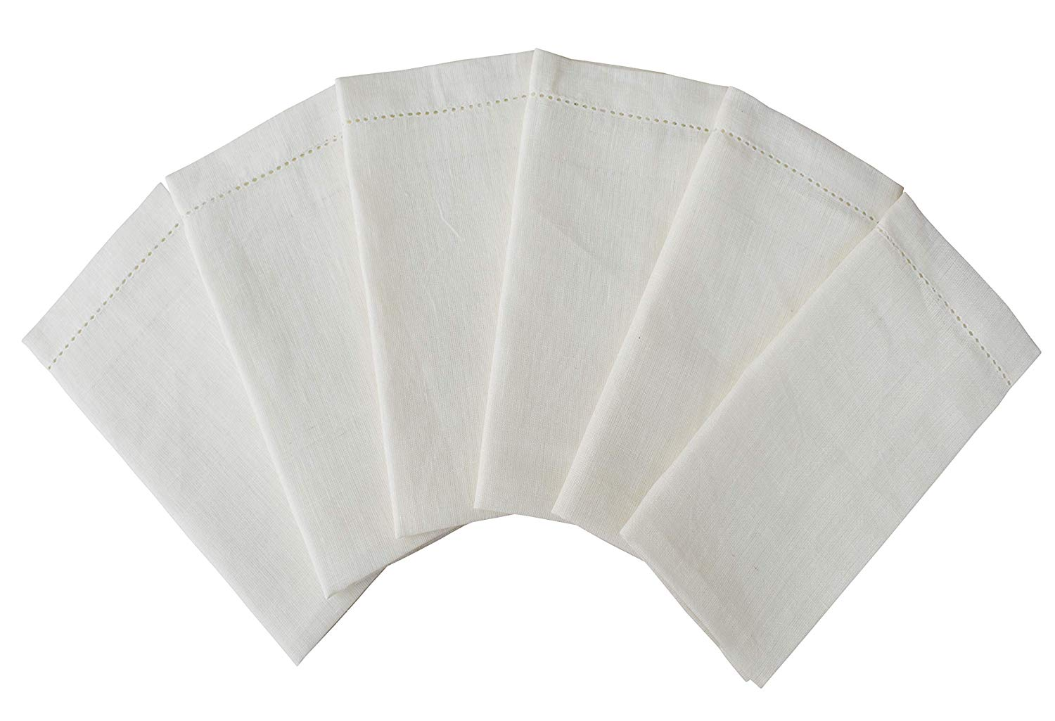 Dinner Napkins in Linen(100% Pure) with Hemstitched-18x18 Ivory,Wedding Napkins,Cocktail Napkins,Cloth Napkins,Fabric Napkins,Linen Napkins,Cloth Napkins Set of 12,Linen Cloth Napkins