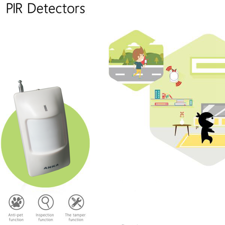 Wholesale price dual element infrared sensor pir detector with smart home