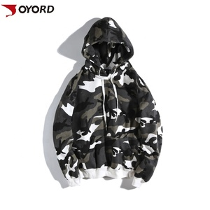 Hot sale custom design sublimation camouflage printed polyester pullover hip hop hooded hoodies sweatshirts for men