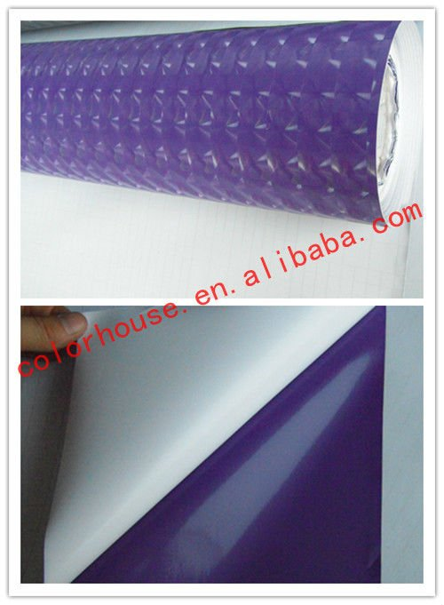Fashion car stickers 3D cat eye style purple car wrap film