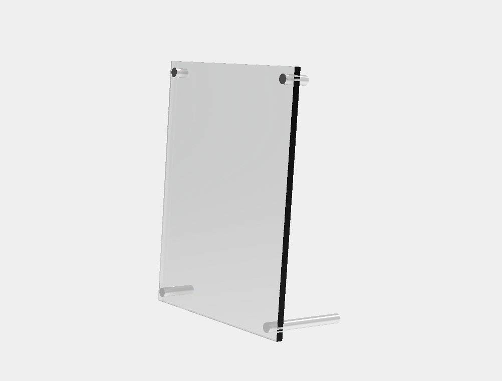 FixtureDisplays 5 x 7 Acrylic Sign Holder with Standoff Hardware, acrylic picture frame 19008 19008