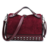 beautiful girl plain leather studded handbags direct from china wholesale