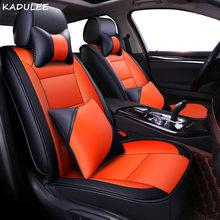 Чехол для автомобильного сиденья KADULEE из искусственной кожи для mercedes w204 w211 w210 w124 w212 w202 w245 w163, автомобильные аксессуары, чехлы для сидений авт...(Китай)