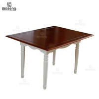 Boseng modern appearance extending wood dining table