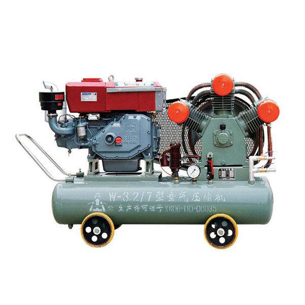 W-3.2/7 20hp 15kw diesel motore a pistone compressore d'aria per la perforazione pozzo