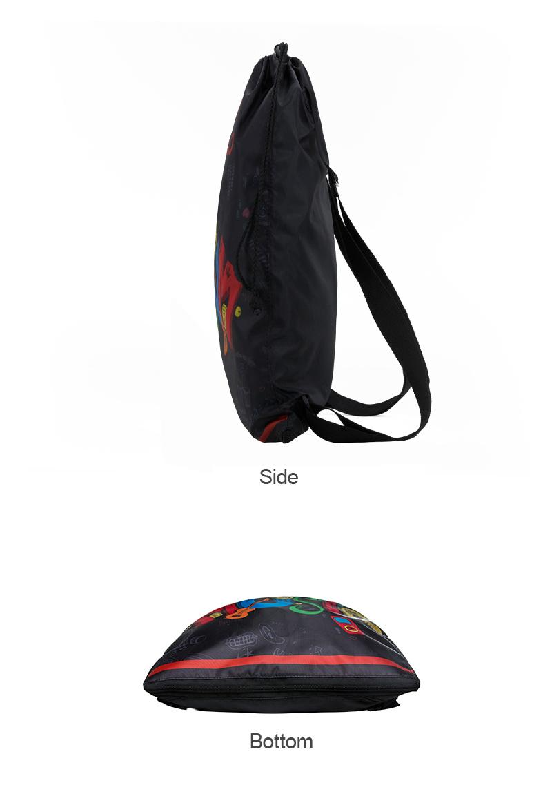 Hot Selling Promotional Custom Printed Drawstring Backpack Teenagers Nylon Plain Drawstring Backpack