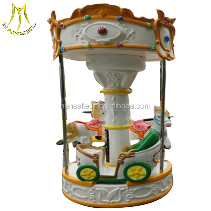 Hansel 3 seats mini carousel for sale ride on horse toy pony for kids and adults kids carousel amusement park