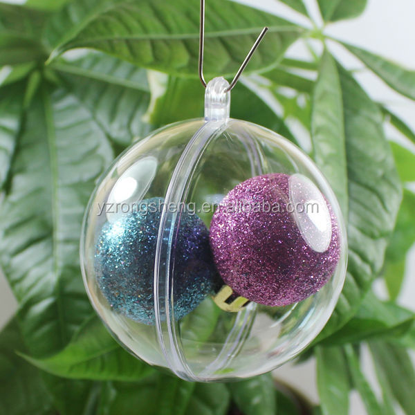 promotional christmas transparent clear acrylic ball