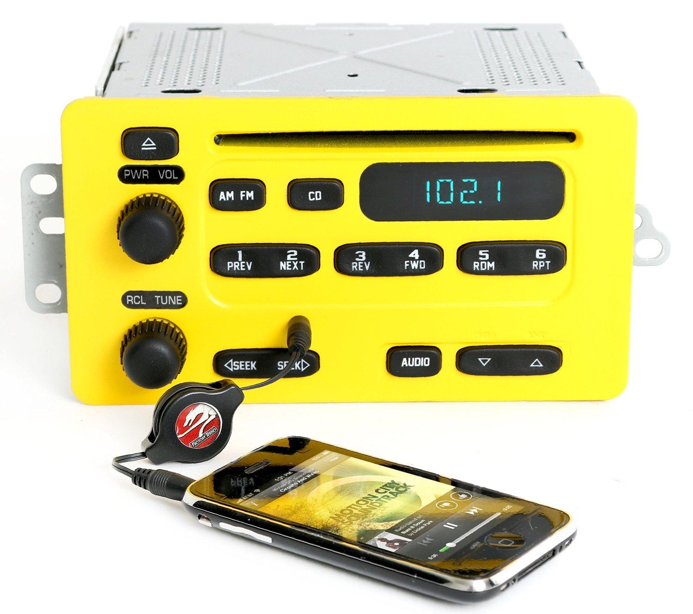 Chevy Impala Malibu 2000-05 Yellow & Black Radio AM FM CD w Aux Input - 10315119