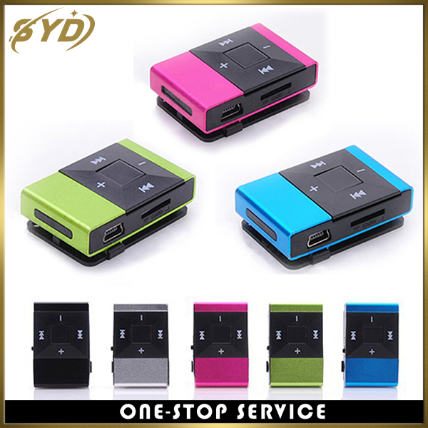 Best selling gift clips mp3 TF card slot player mini mp3 player