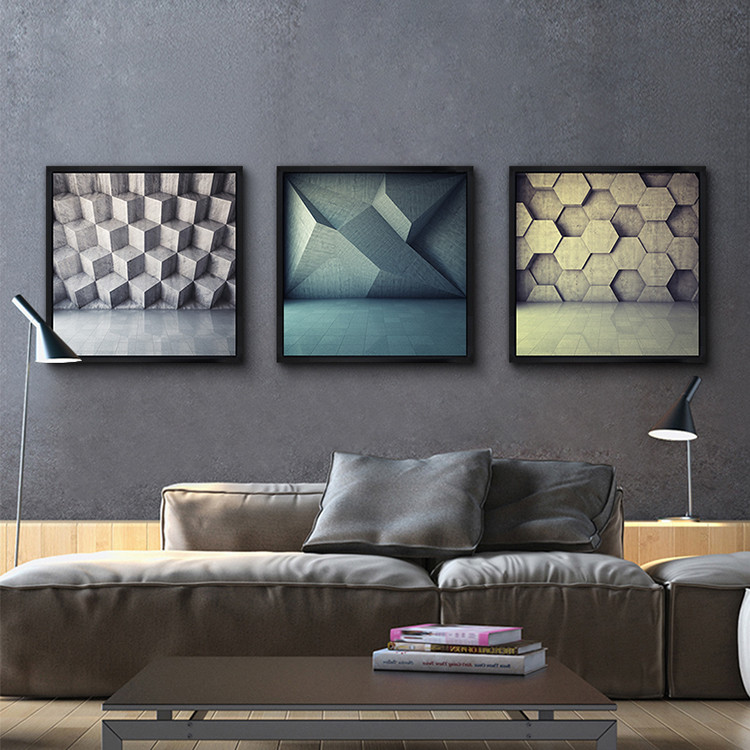 Digital,Negro Cuadrado Pintura 60 Cm X 60 Cm Grandes Marcos De ...