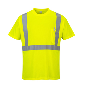 Wholesale Custom Made Hi Vis Safety Reflective Yellow T Shirts