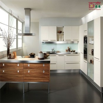 Wood Grain Laminate Kitchen Cabinets