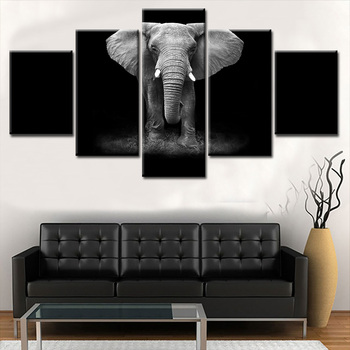 Black White Canvas Prints Art Elephant Animal Canvas Pictures Oil Art  Paintings For Living Room Decoration Unframed - Buy Canvas Art Painting For  ...