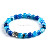 Yiwu wholesale Buddha natural stone beads rosary bracelet