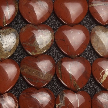 Natural polished red jasper stone rock quartz crystal heart shape Semi Precious for valentines day gifts