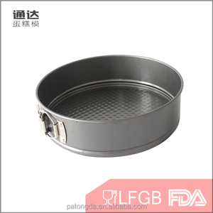 Promotional cake bread pan set grey round baking pan with lid removable bottom baking mold set