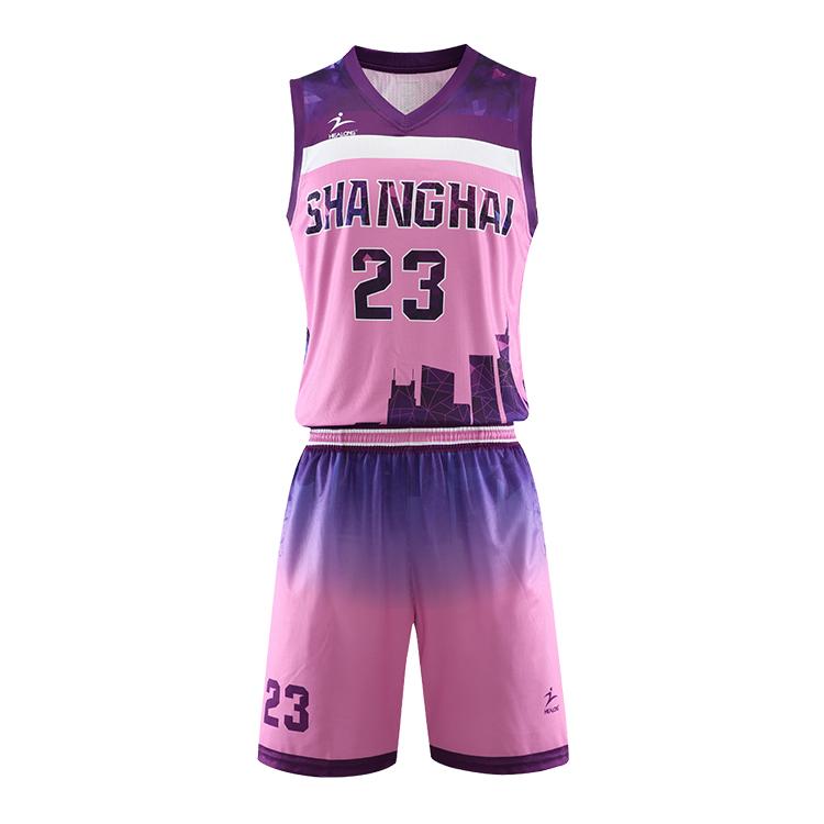 Simple Design Basketball Jersey Color Pink Mens Womens Basketball Uniform Design View Simple Design Basketball Jersey Oem Odm Product Details From Guangzhou Healong Sportwear Co Ltd On Alibaba Com
