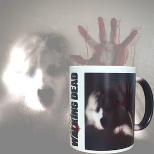 walking dead blood arm female zombie horrific magic color changing ceramic cup