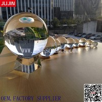 Hot Sale Home Decoration Large clear crystal Glass ball with 100 200 300 400 500mm