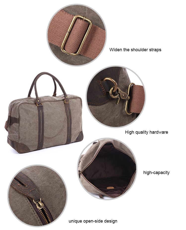 According To Customer Needs Functional Best Selling Retro Canvas Duffle Bag