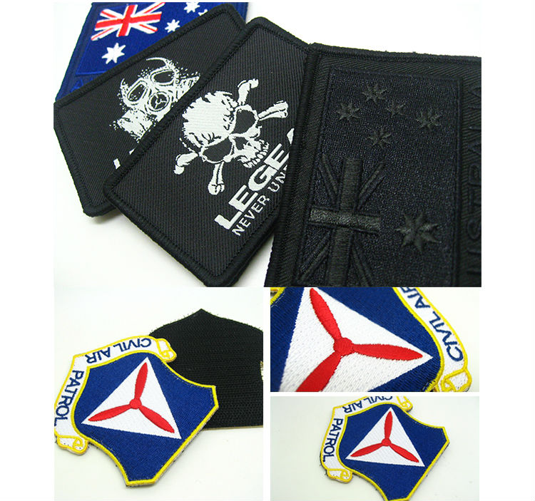 Wholesale Sublimation Blank Embroidery Badge For Textiles