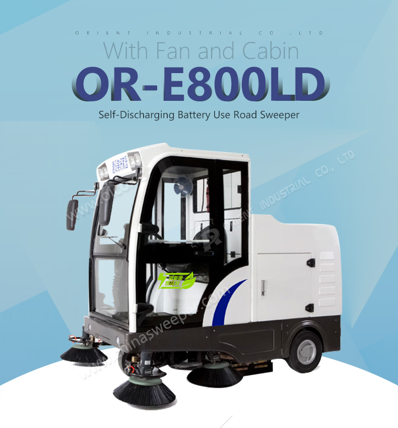 E800LD Battery Floor Sweeper Best Seller Automatic Floor Sweeper