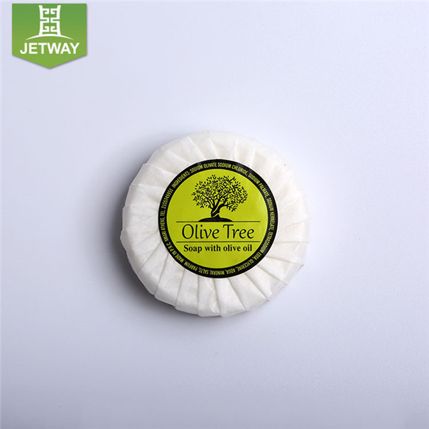 Small round pleated bag packing hotel bath soap beauty small soap bars