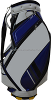 wholesale high quality custom handmade PU leather golf gun bag