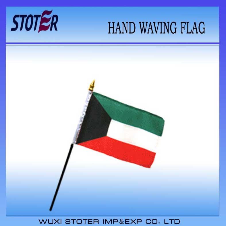 Kuwait 30*45cm Hand Waving Flag