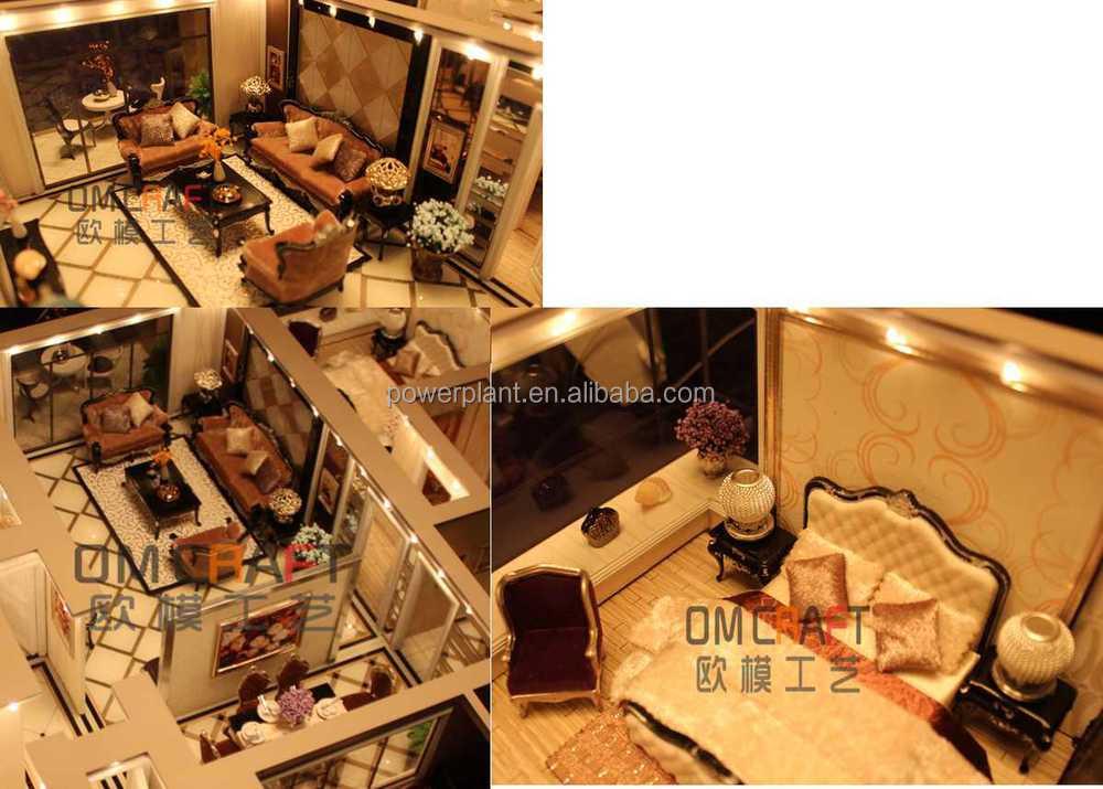 haus innenarchitektur modell/fertighaus-modell/miniatur wohn, Innenarchitektur ideen